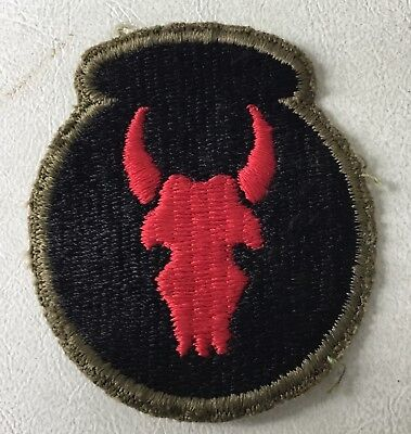 34th Infantry Division Patch with OD Back