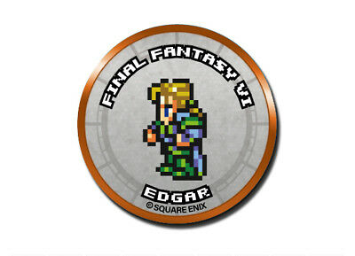 Final Fantasy Record Keeper Pin Badge Collection FFVI Edgar Pixel Art Button