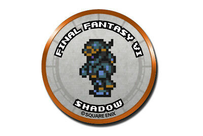 Final Fantasy Record Keeper Pin Badge Collection FFVI Shadow Pixel Art Button