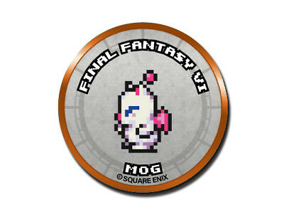 Final Fantasy Record Keeper Pin Badge Collection FFVI Mog Pixel Art Button