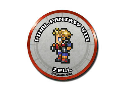 Final Fantasy Record Keeper Pin Badge Collection FFVIII Zell Pixel Art Button