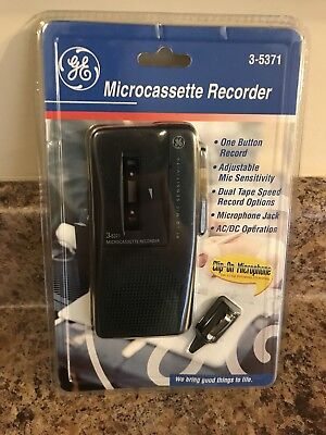 GE Microcassette Recorder Model 3-5371 NEW Factory Sealed