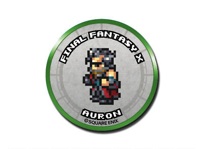 Final Fantasy Record Keeper Pin Badge Collection FFX Auron Pixel Art Button