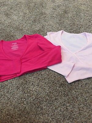 Danskin Now Pink Ballet Wraps Tops - Girls Size 7-8