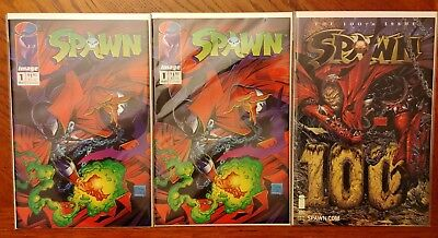 SPAWN #1 (2 books) & SPAWN #100 | Image Comics) | NM High-Grade Copies!