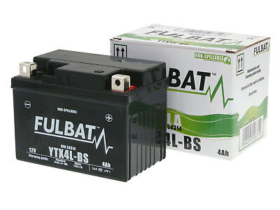 Batterie Fulbat Gel High Power 50314 / YTX4L-BS SLA 12V 3AH Motorrad