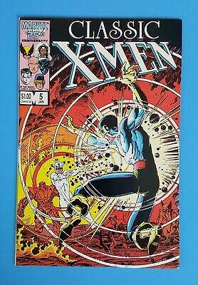 Classic X-Men #5 Arthur Adams Cyclops vs Havok Cover Marvel Comics 1987