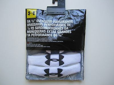 "NEW 2prs UNDER ARMOUR Performance HeatGear 1/2"" Oversized Wristbands Unisex"