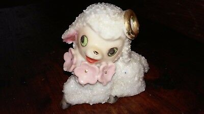Vintage Anthropomorphic Salt Sugar Glazed Textured Lamb-Japan-Enesco