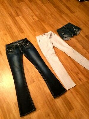Juniors size 3 lot jeans short almost famous Beverly jeans Joe boxer