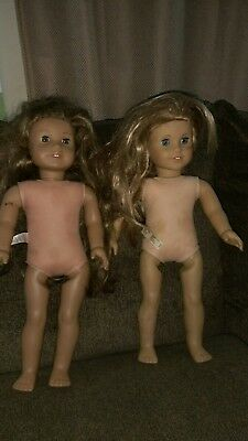 American Girl Doll Lot of 2 Used Dolls Need TlC For Parts?