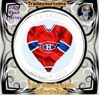2009 Canada Nickel Montreal Canadiens Loonie Dollar From Canadian NHL Hockey Roa