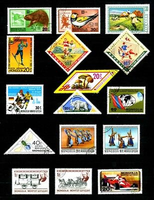 Mongolia stamps Various CTO used
