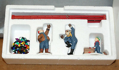 DEPARTMENT 56 HERITAGE VILLAGE COLLECTION TOWN TREE TRIMMERS dc SET 4