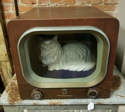 One of a Kind (Cat Tv Bed) Vintage TV (Smaller and pretty Light Weight)