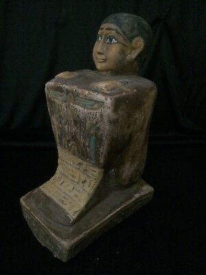 ANCIENT EGYPTIAN ANTIQUE EGYPT God Amun Block STATUE stone 1378–1353 BC