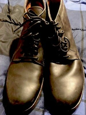 d273e135b91c0 FRYE MENS NEW Black Leather Officer Lace Up Boots Size 11 $378 ...