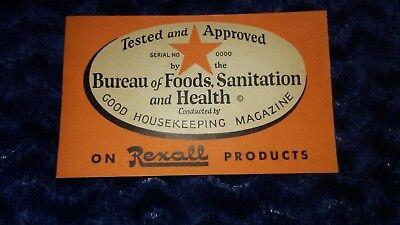 Vintage booklet REXALL Products Druggist Good Housekeeping