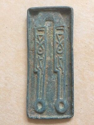 old long coin mold ancient curio bronze knife coin stamper collection antique