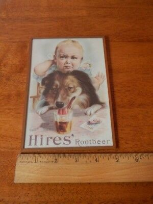 """Hires Rootbeer """"An Uninvited Guest"""" [5''x7''] Lithograph Under Glass WALL DECOR"""