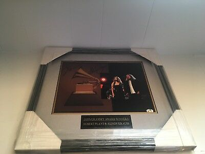"Robert Plant & Alison  Krauss Grammy Award 2009 Signed Picture in Frame 16""x 15"""