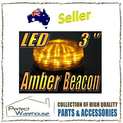 12V Amber 65mm Diameter LED Safety Beacon Warning Upward Flash Lights Globe Bulb
