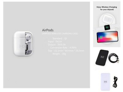 Qi Wireless Charge Receiver Charging Headset Smart Case Fr Apple Airpods+Mat LOT