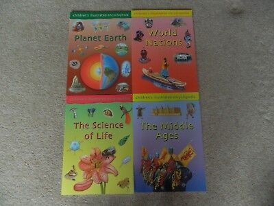 SET OF 4 CHILDREN' S ILLUSTRATED ENCYCLOPEDIA BOOKS - NEW - Set 1