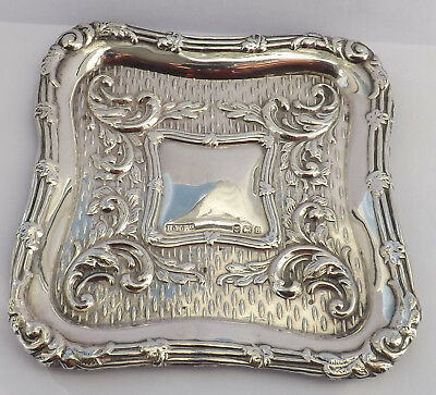 Lovely 1907 Antique Miniature  Solid Sterling Silver Tray