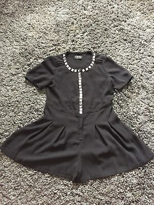 Girls Black Playsuit/all In One Next 7years