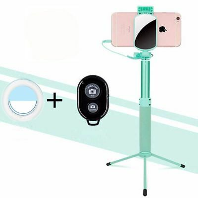 Selfie Bluetooth with Wireless Remote,Tripod Stand and Led Light for iPhone XiPh