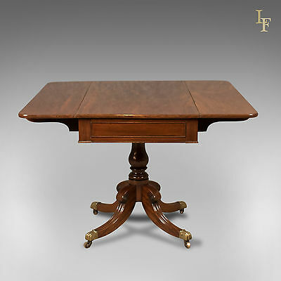 Antique, Pembroke Table, Regency, Flame Mahogany, English, Quality Piece c.1820