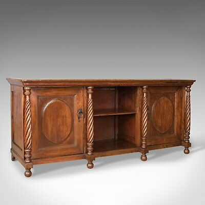 Antique Sideboard, Colonial Cabinet, Fruitwood, Cupboard, Early 20th Century