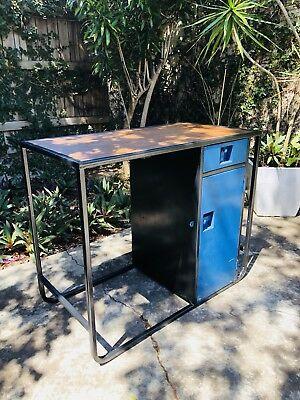 Industrail Desk with Storage / Garage Work Bench / Black Blue