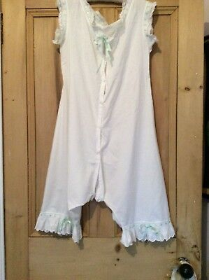 Antique Ladies Victorian Cotton Combinations / All in ones