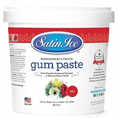 Gum Paste Satin Ice White 2 Pounds Cake Cupcakes Decorative Sugar Icing