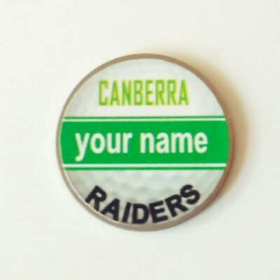 anneys - your OWN PERSONALISED  ** Raiders ** golf ball marker!!