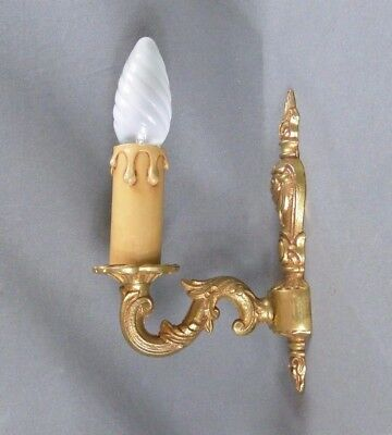 Antique French Golden Bronze Wall Light Sconce - Louis XV Style