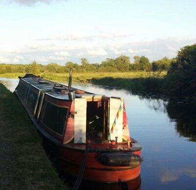 60 ft trad narrowboat . russel newbury engine boatmans cabin ,one owner from new