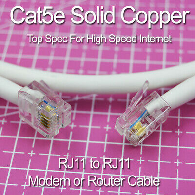 BT Infinity 20M Cat5e Modem cable VDSL RJ11 Twisted Pair High speed Broadband