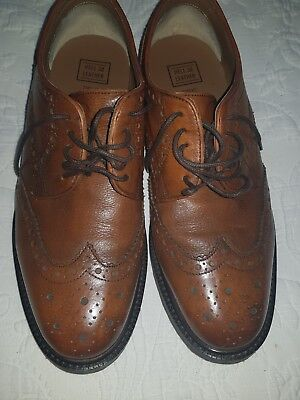 Mens Brown Leather Shoes/Brogues Size 9