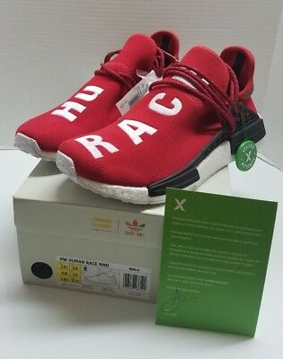 41074e60 Brand New Adidas Pharrell Williams Human Race Nmd Scarlet Stockx Certified