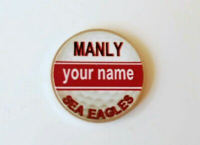 anneys - your OWN PERSONALISED  ** Sea Eagles ** golf ball marker!!