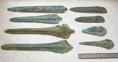 Bronze age Collection of bronze weapons. Metal detector finds  100% original