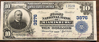 1902 $10 National from the First National Bank of Miamisburg, OH Charter #3876