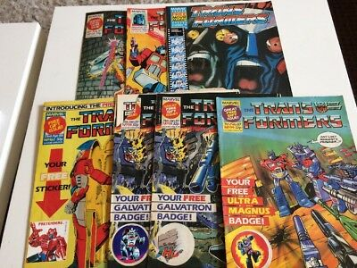 Marvel UK TRANSFORMERS G1 issues 98 99 100 125 162 309 FREE GIFTS