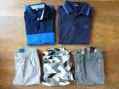 Boys Summer Clothes Bundle Age 12-13 Years (Fred Perry, H&m, Blue Zoo, M&s)