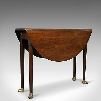 Antique Drop Leaf Table, Mahogany, English, Georgian, Drop-Flap Dining c.1760