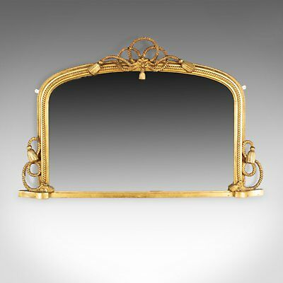 Antique Overmantel Mirror, English Regency, Dome, Wall, Nautical, Giltwood c1830