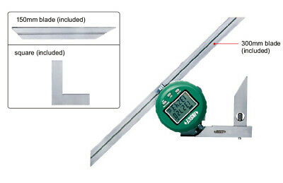 Insize Electronic Digital Protractor, 0-360 (2172-360A)